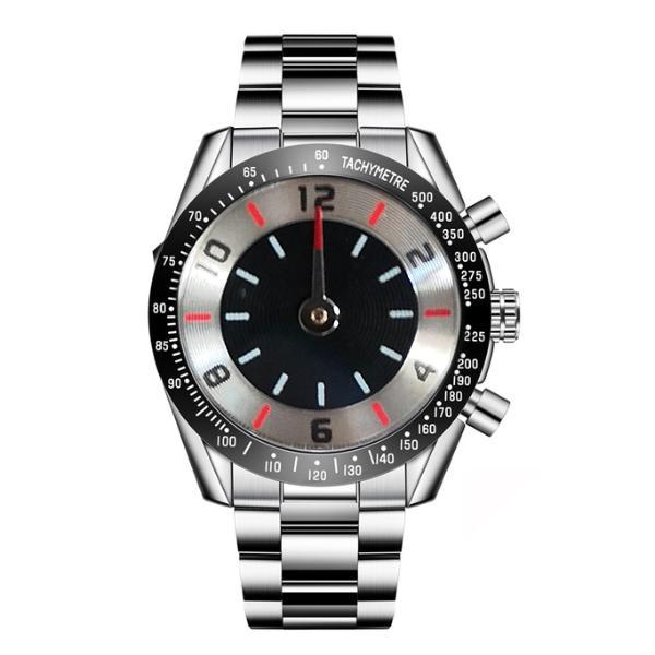 Luxusdesigner Männer Uhren Europa Chronograph Quartz Uhr Mann Edelstahl Armbanduhr F1 Rennwagen Mens Sportuhren