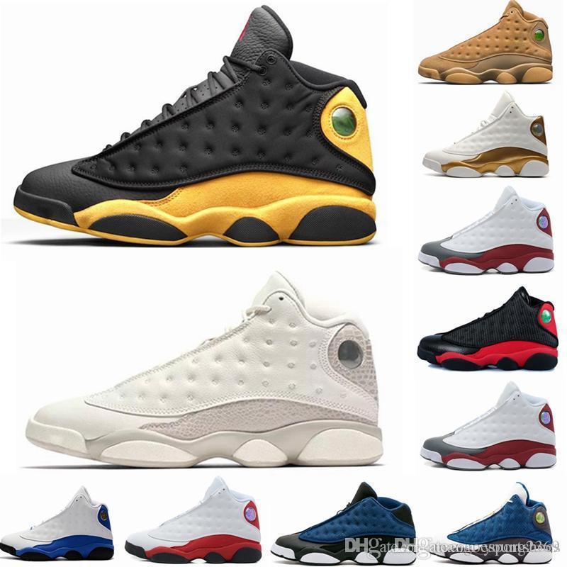 Nuevo 13 13s Zapatillas de baloncesto para hombre Gorra y bata Phantom Chicago GS Hyper Royal Black Flints de gato Bred Brown Wheat Zapatillas deportivas retro
