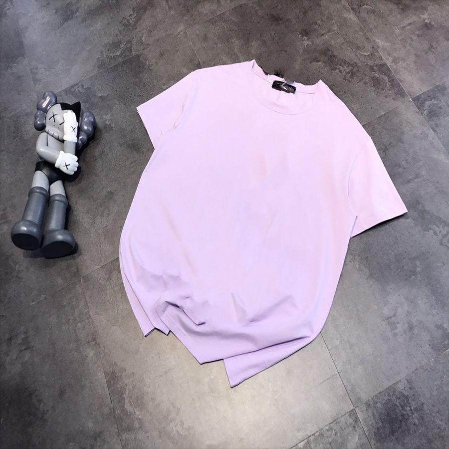 051207ins purple cotton short-sleeved women's loose top fashion 051207ins purple cotton short-sleeved T-shirt women's loose top T-shirt fash