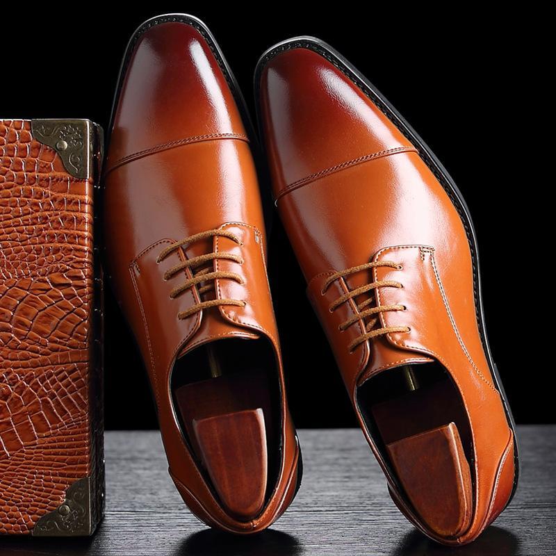 Klassische Männer Leder Kleid Schuhe Luxus design Hochzeit Prom Casual Lederschuhe Oxfords Atmungsaktive Weiche Mokassins Plus Größe 47 48