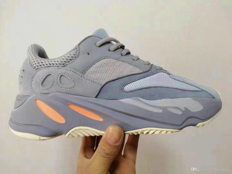 Top Qualité 700 V2 Inertia Statique Mauve Wave Runner 700 Hommes Femmes Designer Sneakers Meilleure Qualité Kanye West Chaussures De Sport Avec La Boîte 5-13
