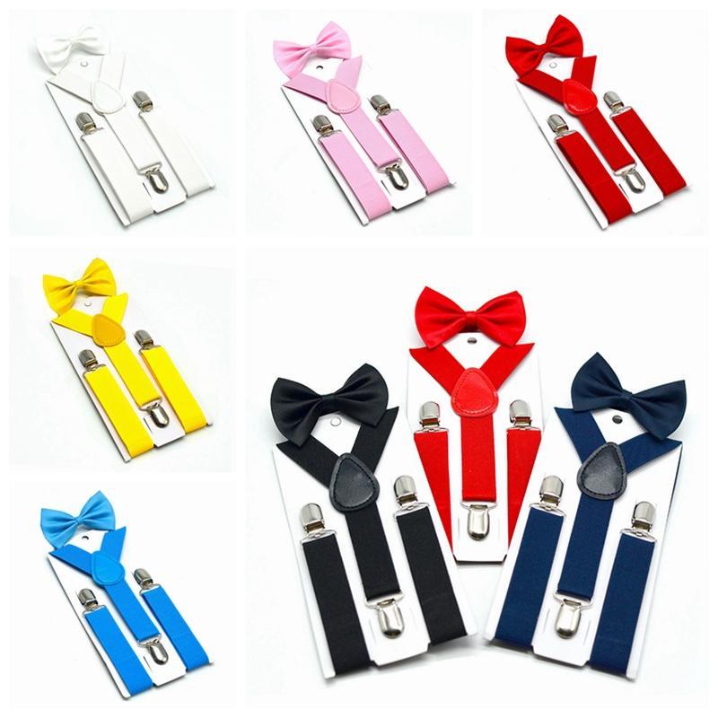 الحمالات الاطفال القوس التعادل مجموعة 7 ألوان بنين بنات الحمالات مطاطا Y-الحمالات مع القوس التعادل موضة الحزام أو طفل أطفال الأطفال HHA461