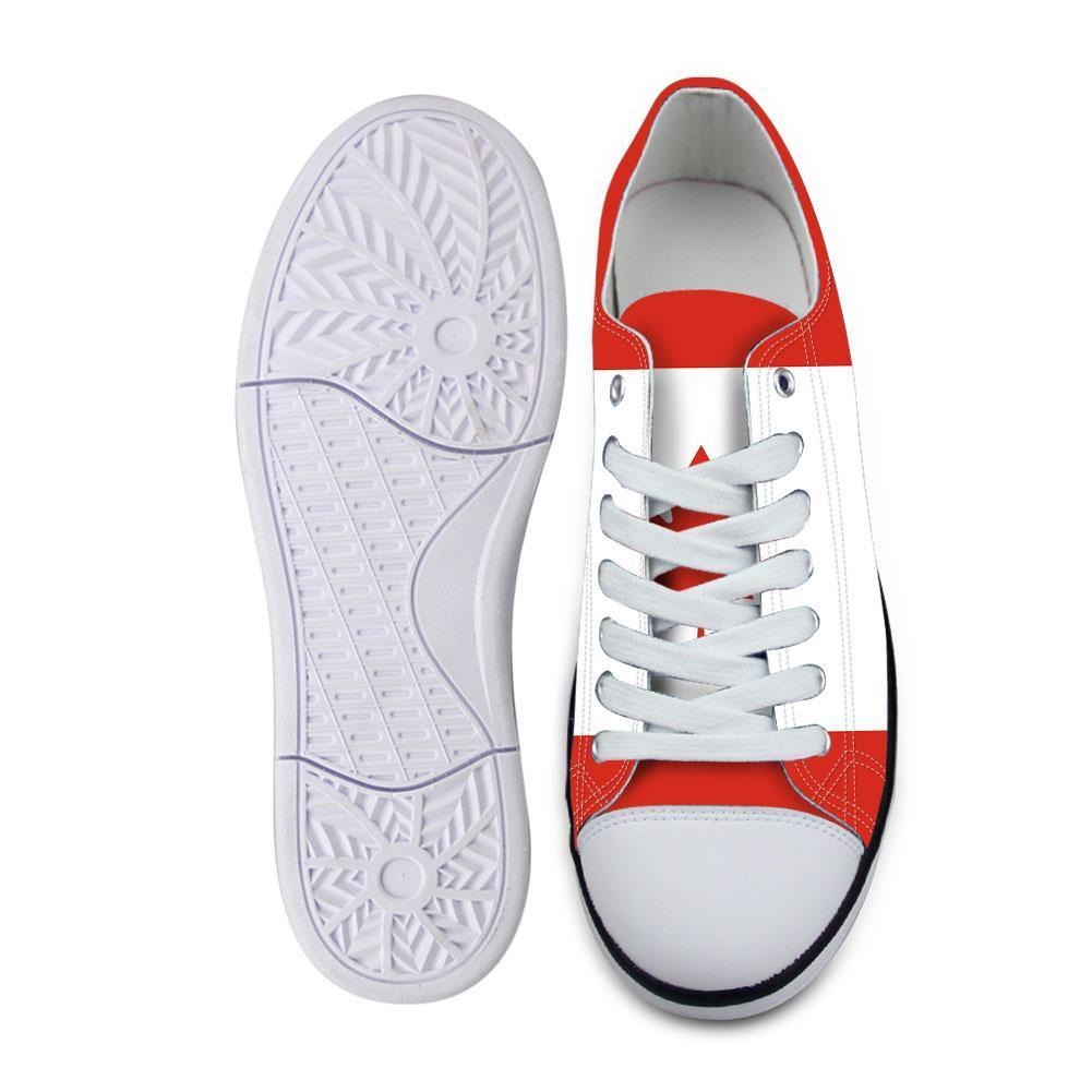 CANADA scarpe maschio studenti DIY personalizzato numero nome fatto Paese nazione bandiera ca all'università di stampa fotografica scarpe casual giovani francesi