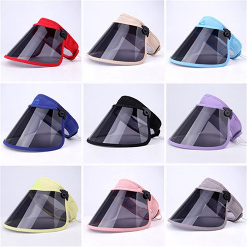 Em da máscara protetora protetor facial Crianças Dustproof tampa transparente máscaras faciais Anti poeira respirador frete grátis Elastic Anti-UV Hat