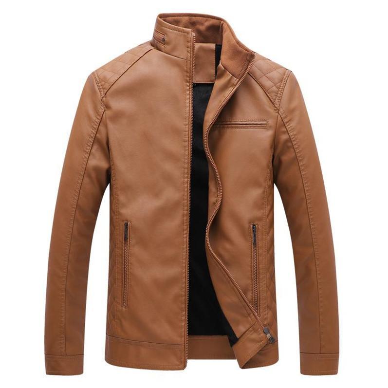 Mens Designer PU Leather Jackets mens faux fur coats Thick Warm High Quality Jackets Slim Casual Streetwear Vintage Mens Coat Size L-6XL