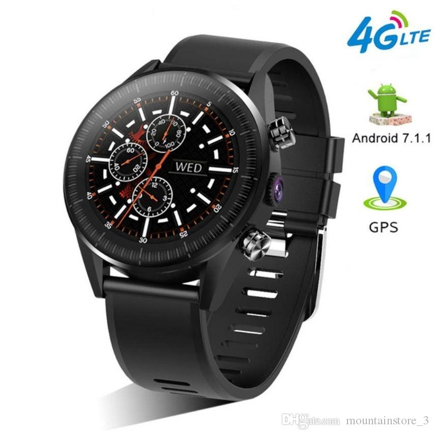KC05 2019 New 4G Smart Watch Men Android 7.1.1 Quad Core GPS 5MP Camera 610Mah Battery Replacement Strap Waterproof Watch (Retail)