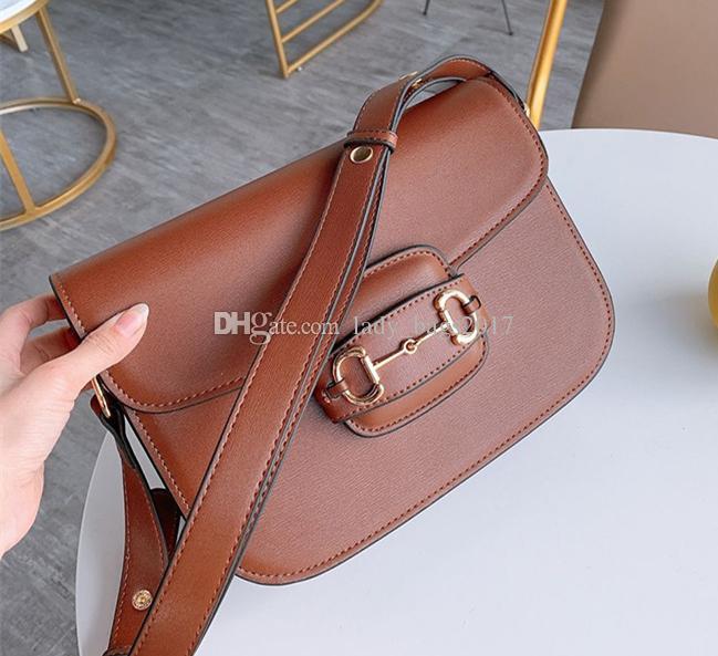 Nova Retro Saddle Handbag Inserir Buckle Couro Bolsa de Ombro Messenger Bag Flap Crossbody Bag Strap Handbag Shoulder