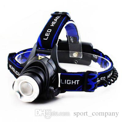 3000LM Rechargeable XM-L2 LED Headlamp 3 Modes Zoom Headlight Use 18650 Battery Torch Waterproof Bicycle Camping Hiking Lamp
