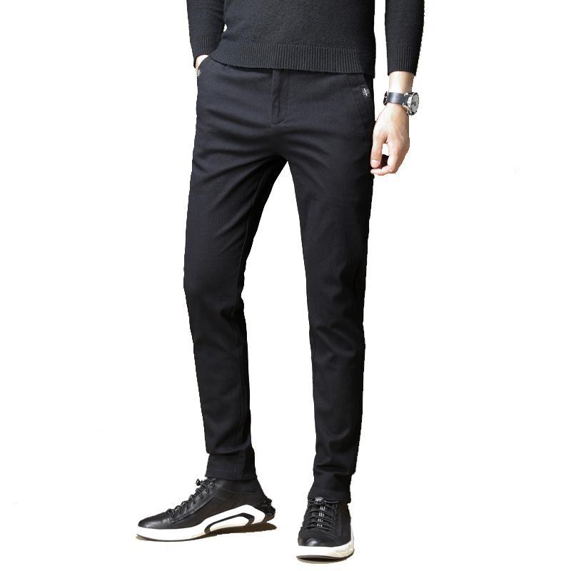 Мужская мода сплошной цвет прямые брюки Брюки бизнес повседневная подходит для работы Общества дома отдыха или просто повседневной носки