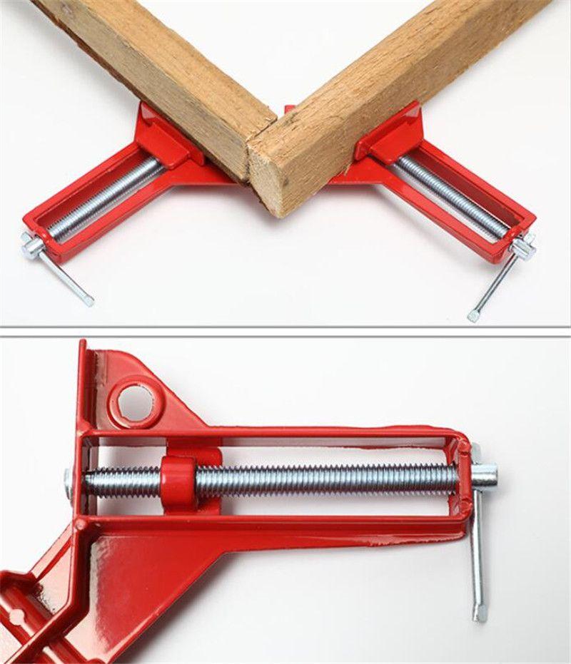 견고한 90도 직각 클램프 DIY 코너 클램프 빠른 고정 어항 유리 나무 액자 목 공용 직각