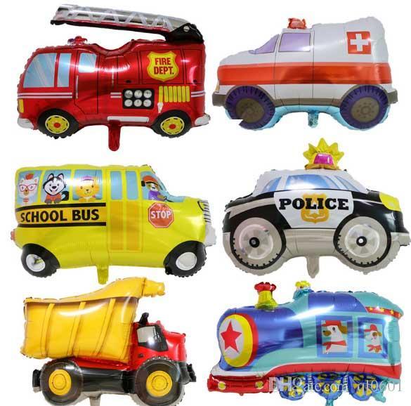 Acheter Dessin Anime Ballon Enfant Jouet Ambulance Police Voiture