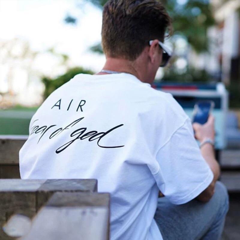 Primavera-Verão 2020 medo FOG de Deus assinatura designer de marca colaboração Camiseta Homens Mulheres Moda T Shirt Casual Cotton Tee