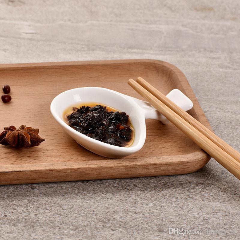 Vaisselle en céramique blanche cuisine assaisonnement sauce vinaigre multi-plat Hotpot plaques Fast Shipping