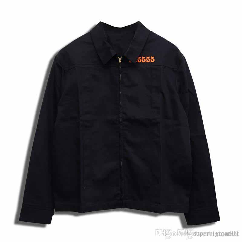 Veste en denim de haute qualité orange 555555 hommes Designer Vestes Skinny Slim Fragment Fahsion Veste en jean Manteaux d'hiver S-XL
