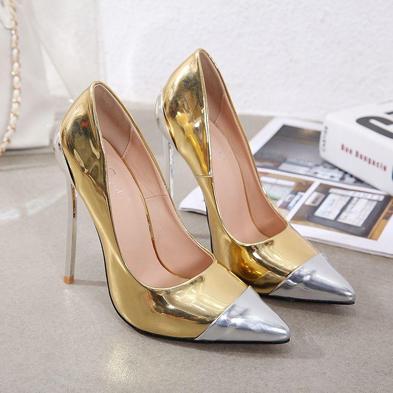 With Box Gold Heel Designer Heels Sexy