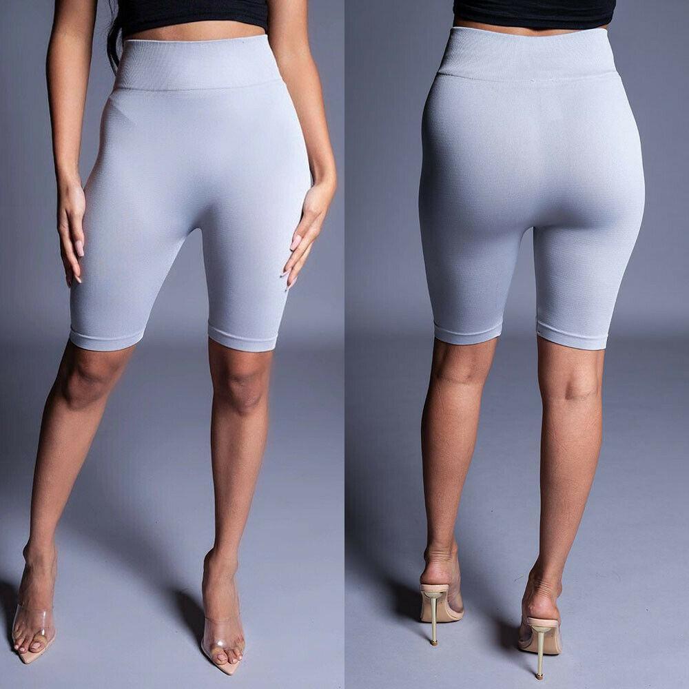 2019 новых сексуальных женщины Хлопок Фитнес Короткой Безопасности Брюки Брюки Tight Sheer Тощего Stretch Коротких штаны