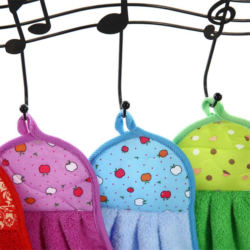 Yetişkin Çocuk Banyo Mutfak Aksesuarları için El Havlusu Fleece Emici Katı Renk Banyo Havlusu El Yüz Temizleme Havlu Ev