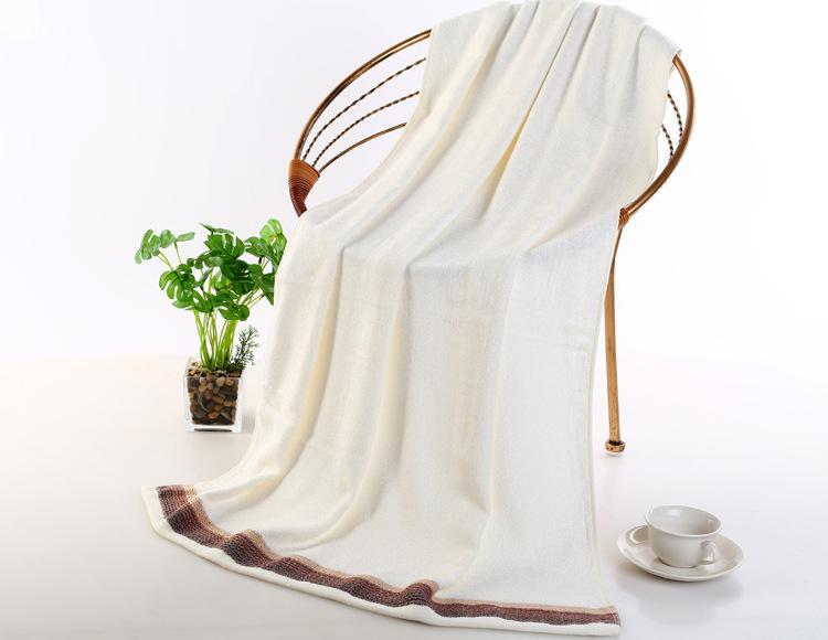 Macio 100% de bambu Máquina lavável Grande banho toalha 140 * 70 centímetros de Banho
