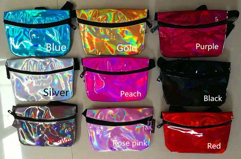 Laser 9 Farben Fanny Pack Clutch Taille Gürtel Tasche Mode Strand Geldbörse Taschen Wasserdichte Handtaschen Geldbörsen Mini Kosmetiktasche