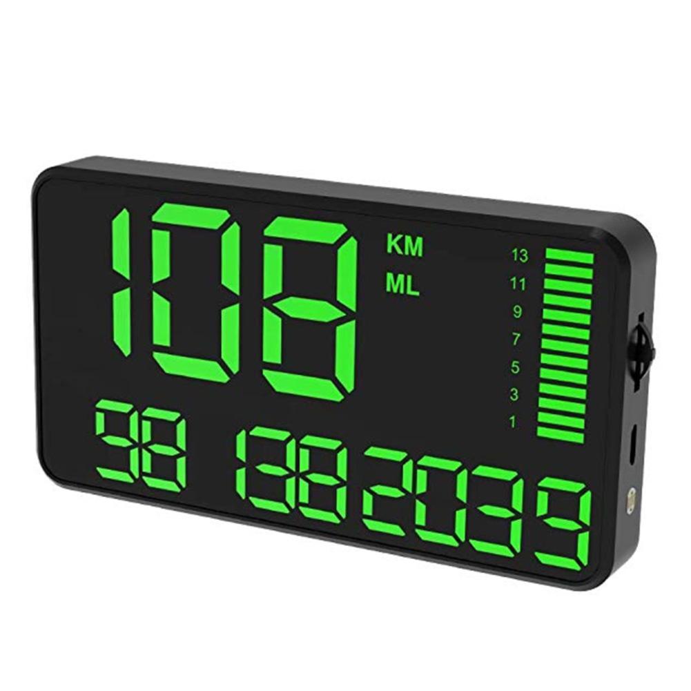 디지털 C90 GPS HUD 속도계 디스플레이 GPS 헤드 업 속도계 자동차 트럭 주행 거리계와 이상 속도 자동차 시계 경고