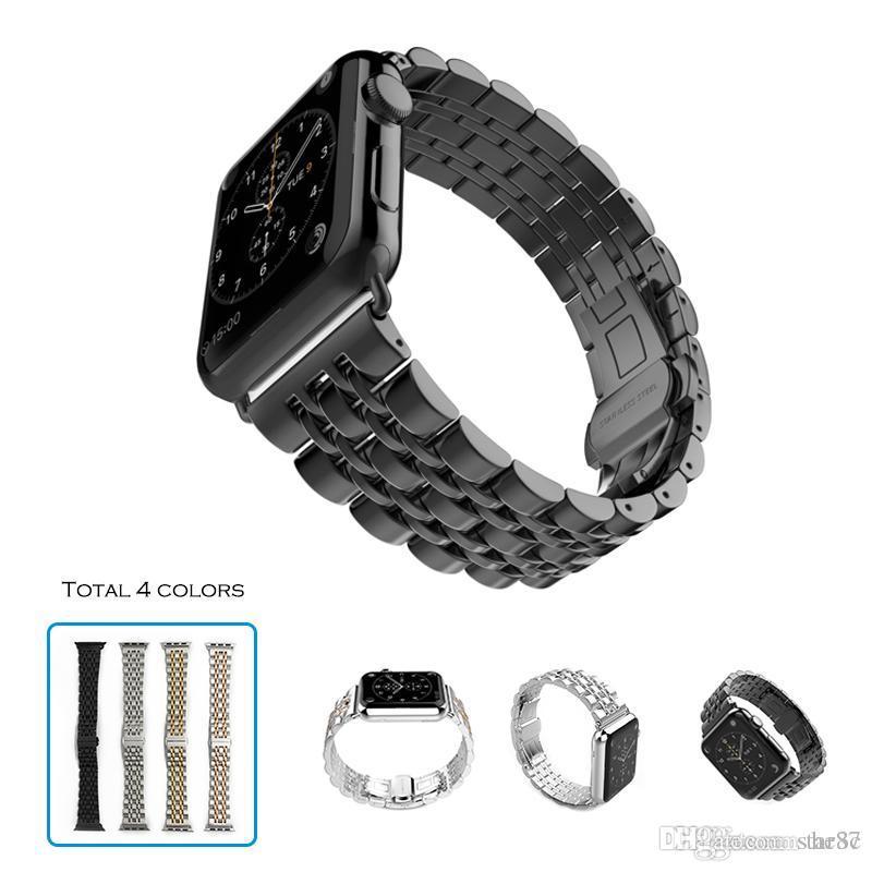 Смежная сторожевая батарея 7 Браслет для запястья для запястья для Apple Watch 38 мм 40 мм 42 мм 44 мм 44 мм Нержавеющая сталь Часы Batts Fit Iwatch Series 6 SE 5 4 3 2 1