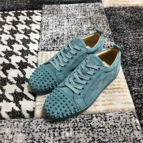 Factory Price - Red Bottom Sneakers Spikes Women's Flats,Lover Designer Men's Sports Low Top Junior Casual Sneakers With Dust Bag