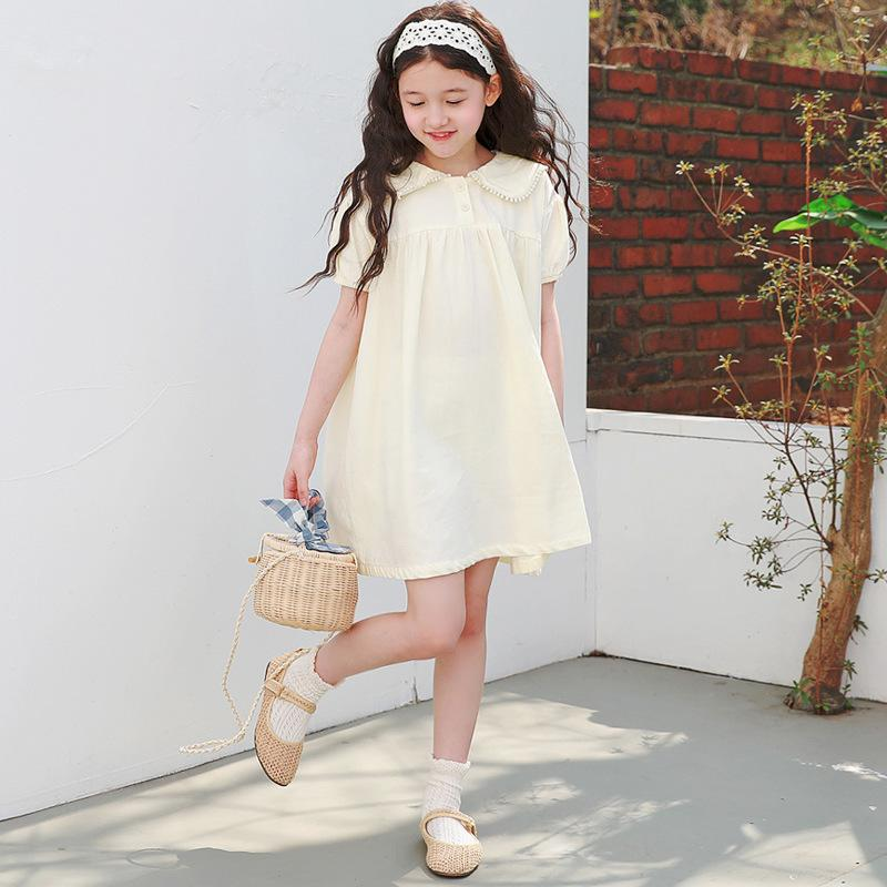 5 à 16 ans Les enfants et les adolescents filles coréenne coton Casual 2020 Robe Mignon bébé Robes Brief mère et vêtements d'enfants, # 8720 T200417