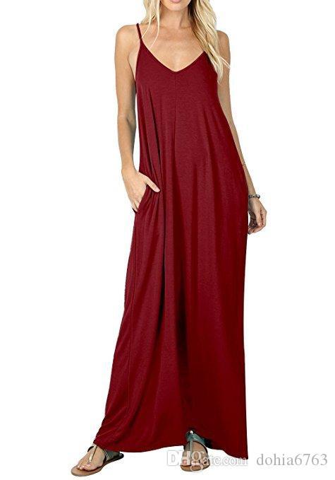 Bahar ve yaz Avrupa FashionSpring yeni düz renk cep kaşkorse elbise
