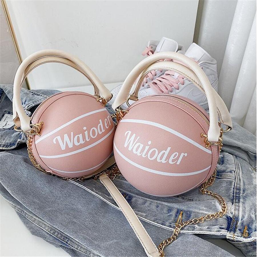 2020 Новый бренд моды класса люкс баскетбол сумки женщин сумки из натуральной кожи Crossbody сумка Новое прибытие женщин Красочные кошелек # 90673