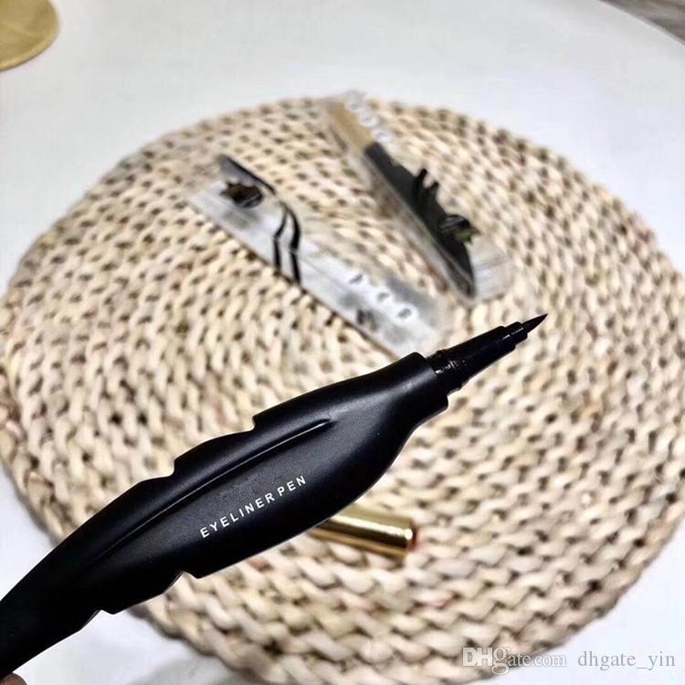 최신 M 메이크업 브랜드 아이 라이너 펜 페더 디자인 액상 방수 지속성 스무스 블랙 브로우 아이 라이너 펜 아이 라이너 화장품