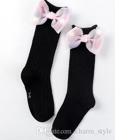 a1ce51a6f ...  Cute Children Socks With Bows Toddlers Girls Knee High Socks Cotton  Long Boot Socks For ...