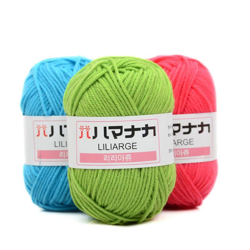25g/ball Colorful Combed Soft Baby Cotton Yarn Fiber Velvet Hand Knitting Crochet Yarn for DIY Sweater JK476