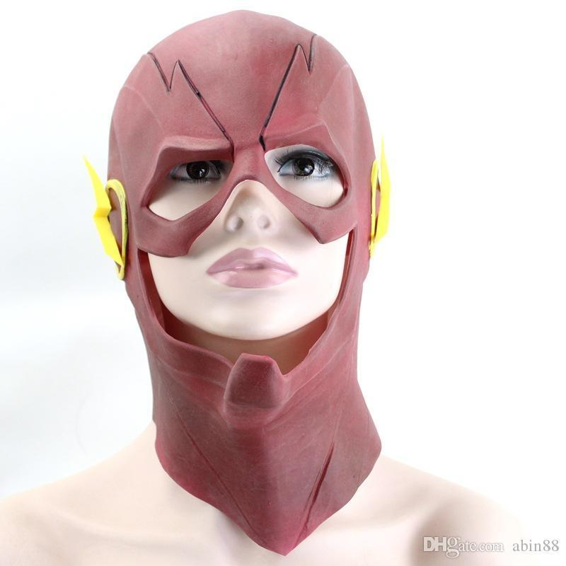 The Flash Movie Mask Cosplay Costume Prop Halloween Full Head Party Latex mask