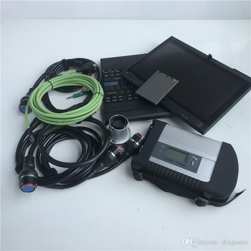mb star car & truck diagnostic tool mb sd connect star c4 with laptop x200t touch screen 4g install with 2019.12v ssd super