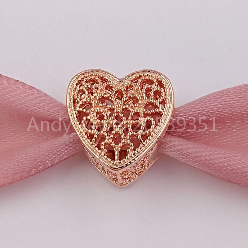 San Valentino 925 perline argento riempito con il romanticismo, Rosa fascino adatto della collana dei braccialetti i monili europei di stile Pandora 781.811 Ro
