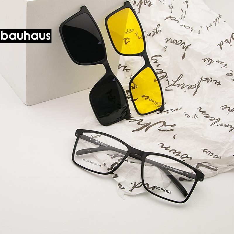 Магнит плоский поляризованные солнцезащитные очки Мужчины большой кадр очки Ultem клип Солнцезащитные очки очки Мужские зажимы X3180