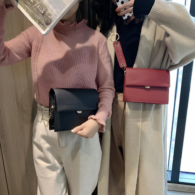 Moda Çanta Yeni Stil Zinciri Küçük Kare Çanta Ins Kız Küçük Satchel Tek Omuz Messenger Her yönüyle