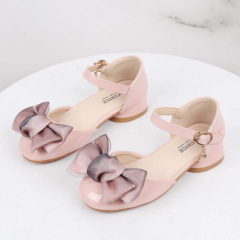 Niños Zapatos de las muchachas de la princesa Mary Jane de tacón bajo los zapatos de vestir del brillo del partido de danza de Novia en Big Girl Niños sandalias individual
