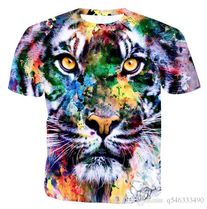Men's Explosive 3D Digital Print Short Sleeve Casual Thin Short Sleeve T-Shirt