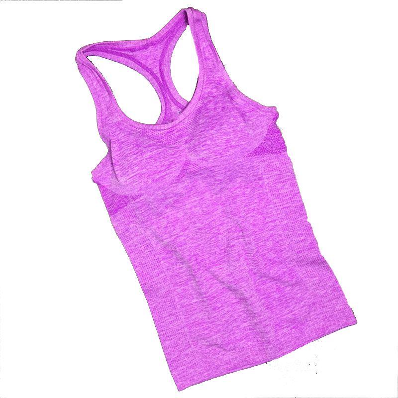 Kadın Spor Üst Kadın tişört Crop Top Yoga Gym Fitness Spor Kolsuz Yelek Atlet womem Eğitim Giyim Koşu