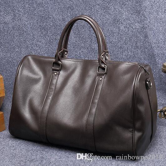 Özgün tasarım marka çanta basit yumuşak deri büyük erkekler seyahat çantaları eğlence hava seyahat çantası iş erkek portatif eğlence çanta trendi
