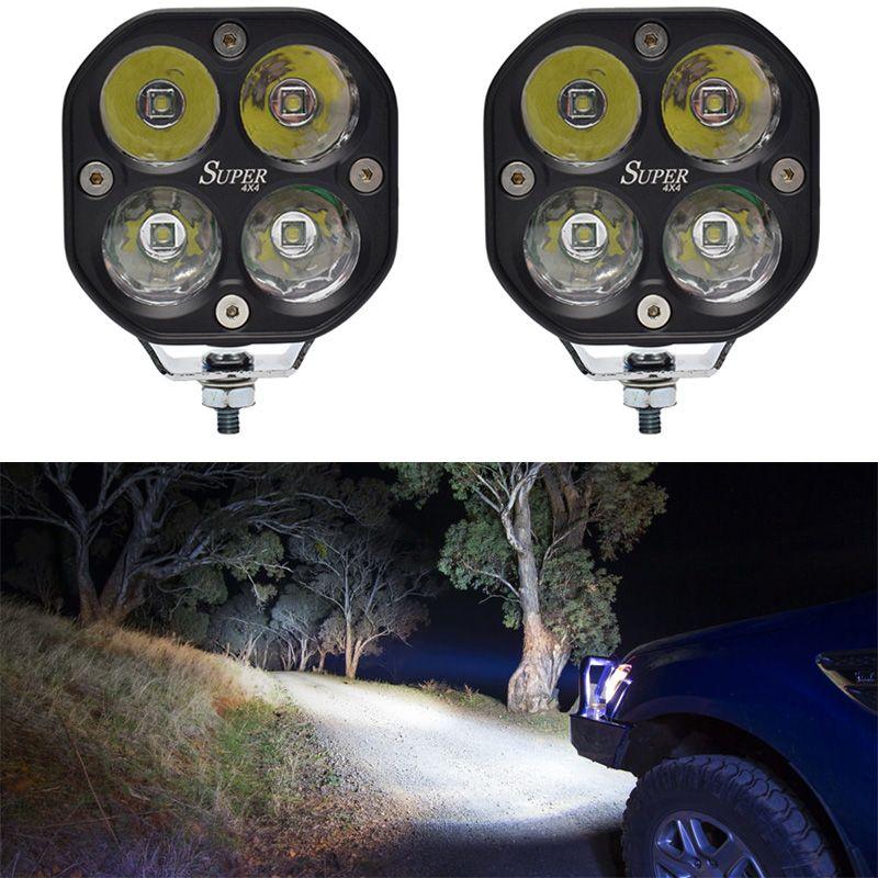 4x4 LED Work Light 40W Super Bright Headlight Spot Lamp Jeep Truck 24V Car 12V Whte