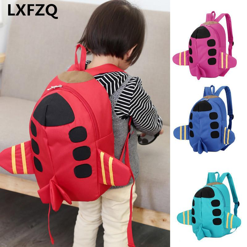 Mochila Feminina Backpacks Printing Backpack Bag Children's Backpack 4colour School Bags Cartoon Plane Backpack For Girls Rugzak Y190530