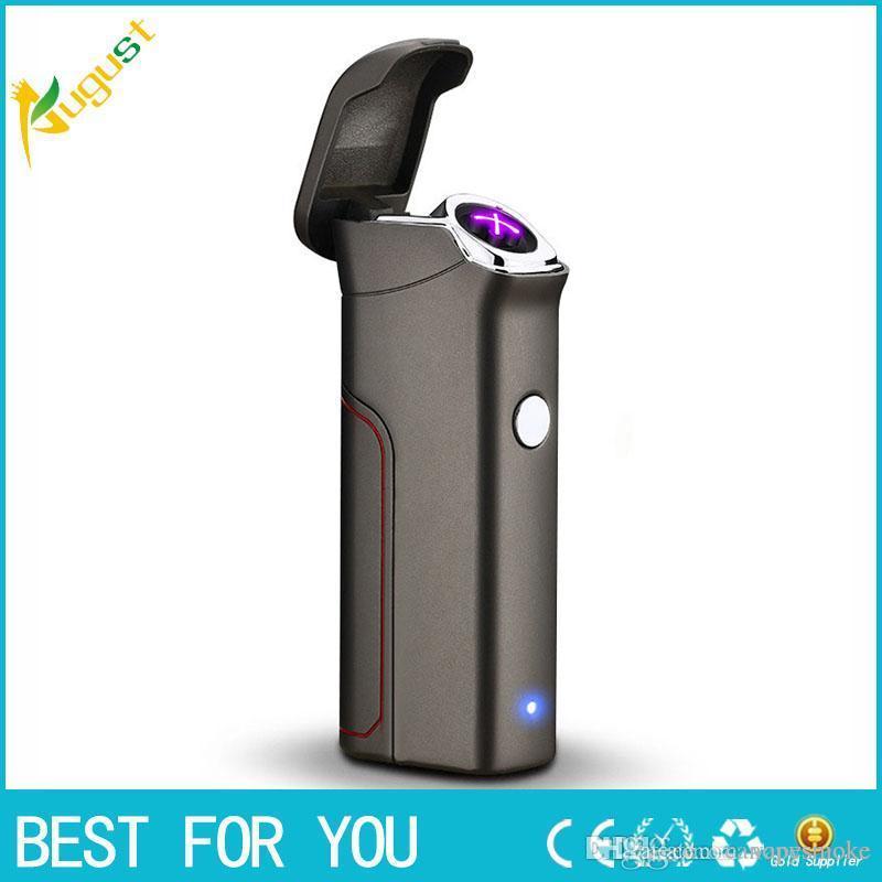 Nuevo Personalidad Creativa Caliente Encendedor de Cigarrillos Doble Lado Metal Encendedor Recargable Encendedor Electrónico Encendedores de Plasma Sin Llamas