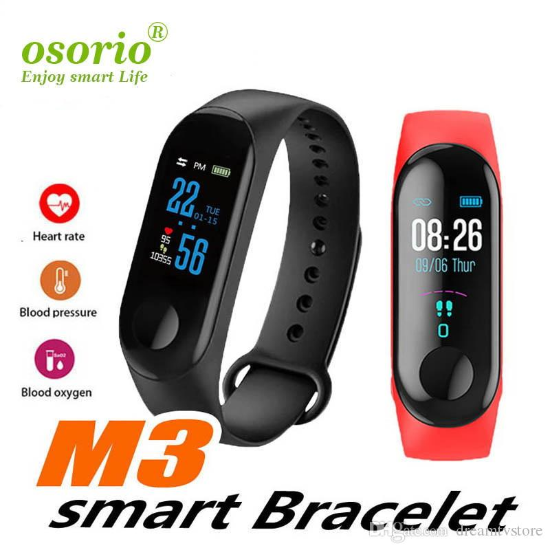 M3 intelligent Bracelet Fitness Tracker montre Smart Watch avec la fréquence cardiaque Bracelet Podomètre Bracelet étanche pour IOS et Android Package Retail
