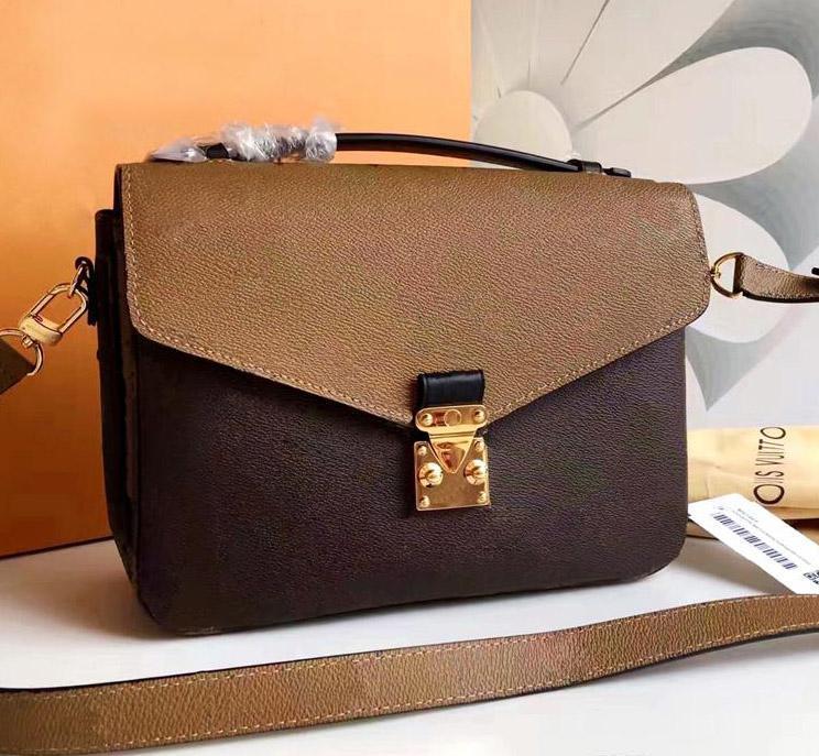 Borse di cuoio reali Classic 25cm Messenger Bag cuoio genuino delle donne borsa di lusso di marca Borse iconica borsa a tracolla della signora Casual Tote Metis