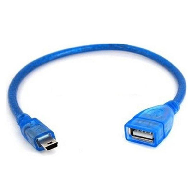 connector cable,USB A Female to Mini 5Pin USB Male Cable copper core,30cm, Car MP3 Connector