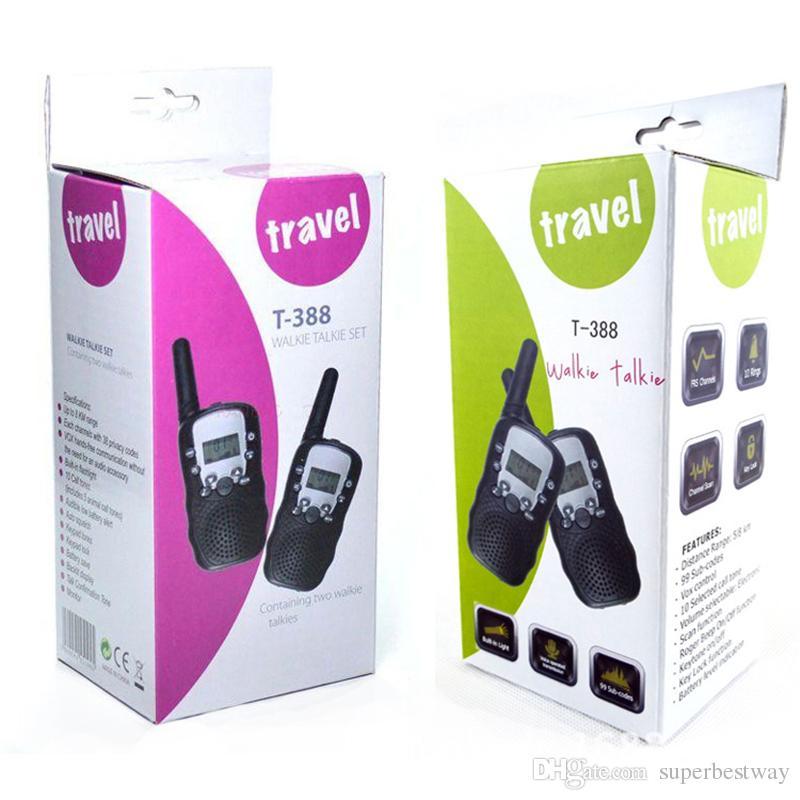 Une paire Retevis RT-388 Mini Talkie-walkie Enfants Radio 0.5W 8 22CH Écran LCD Amateur Radio bidirectionnelle Émetteur-récepteur pour enfants STY173