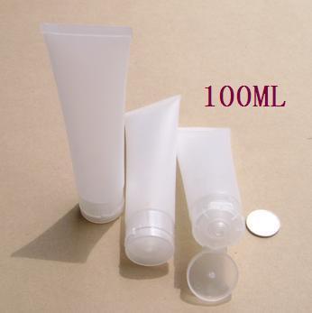 100 ml plastik hortum, temizleyici / el kremi / emülsiyon / diş macunu yeniden paketleme tüp ambalaj kumlu kapaklı öğütülmesi
