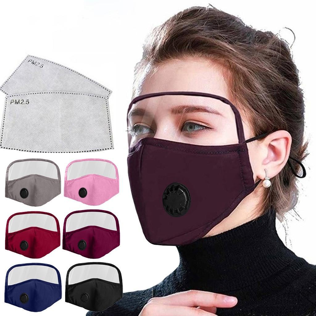 قناع الوجه مع الوجه العين درع قابل للغسل القطن قابلة لإعادة الاستخدام نصف الوجه قناع حماية الفم مناديل مع فتحة